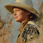 D. Edward Kucera, Wrangler's Daughter, oil, 20 x 16.