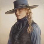 Carrie Ballantyne, Wyoming Blue Eyes, oil, 15 x 12.