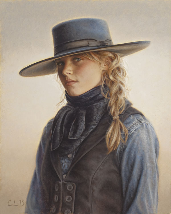 Carrie Ballantyne, Wyoming Blue Eyes, oil, 15 x 12.
