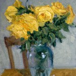Yellow Roses, oil, 8 x 10.