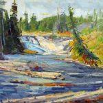 Don Sahli, Yellowstone Falls, oil, 16 x 20.