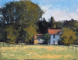 Romona Youngquist, Ribbon Ridge Farm, oil, 11 x 14.