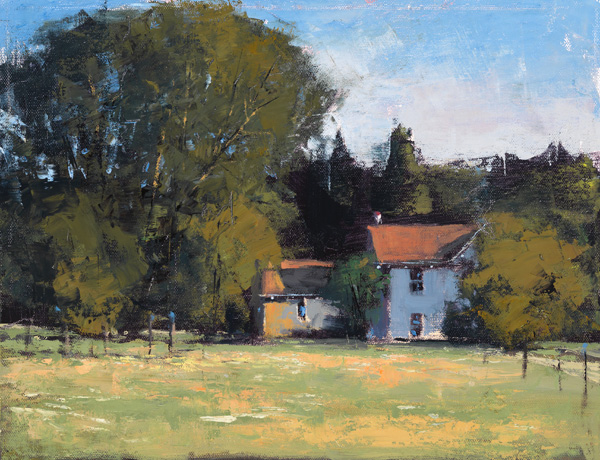 Romona Youngquist, Ribbon Ridge Farm, oil, 11 x 14.