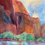 Pamela Findleton, Zion, Flow of Time, watercolor/pencil, 30 x 22.