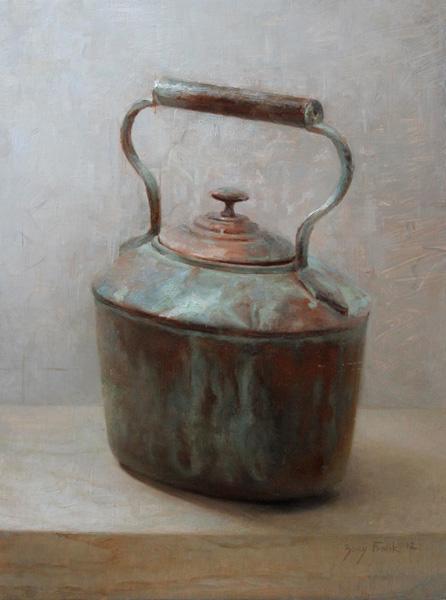 Zoey Frank, Copper Pot, oil, 16 x 12.