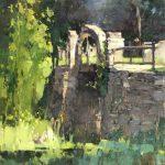 Zufar Bikbov, Stones of Bridge, oil, 14 x 11.