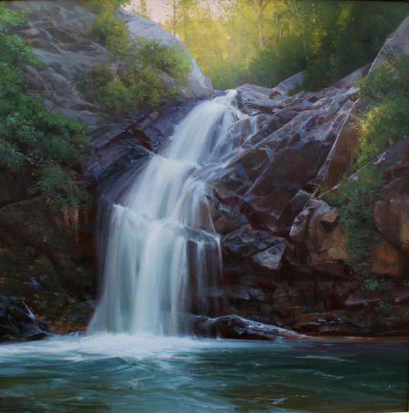 Michael Albrechtsen, Nature's Calm, oil, 36 x 36.