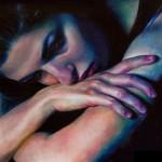 Daliah Lina Ammar, An Ocean Called You (Teach Me How to Swim), oil, 12 x 12.