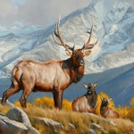 Edward Aldrich, Backcountry Drama, oil, 30 x 40.
