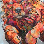 Amy Ringholz, Be Brave, ink/oil, 48 x 36