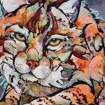 Amy Ringholz, Be Ready, ink/oil, 36 x 36.