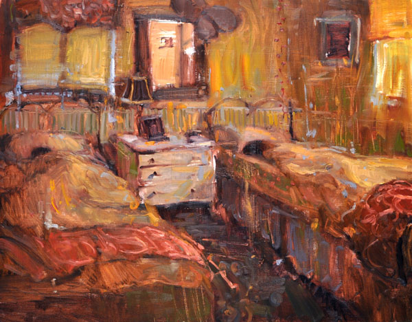 Jim Beckner, Sleepers, oil, 24 x 31.