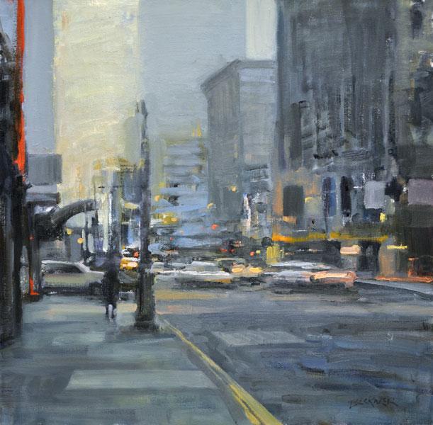 Jim Beckner, Sublime, oil, 24 x 24.