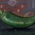Gregory Block, Jalapeno, oil, 3 x 6.