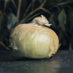 Gregory Block, Onion, oil, 5 x 7.