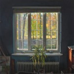 Daniel Robbins, Blue Room Window, oil, 32 x 32.