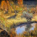 Gordon Brown, Fall Colors, oil, 12 x 12.