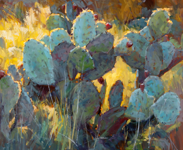Robert Rohm, Cactus Color, oil, 20 x 24.