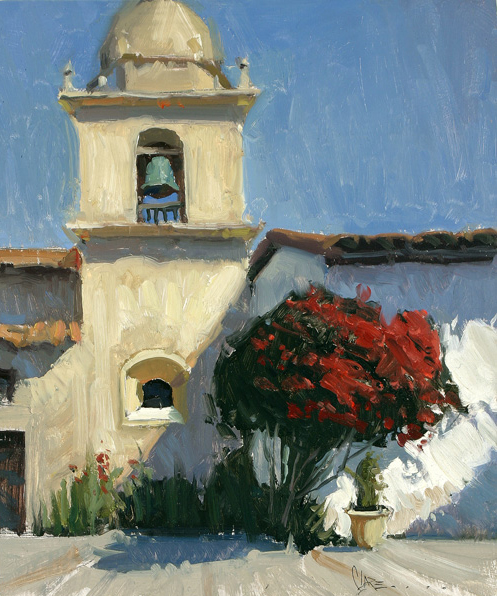 Josh Clare, Carmel Mission, oil, 11 x 14.