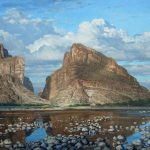 David Caton, Santa Elena Canyon, Downstream, oil, 48 x 60.