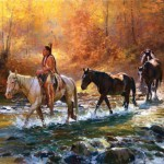 Jim C. Norton, Chief Santaquin's War Horses, oil, 20 x 31.