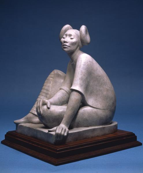 Shirley Thomson-Smith, Hopi Maiden, bronze, h20.