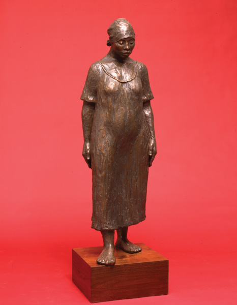 Shirley Thomson-Smith, The Long Walk Home, bronze, h46.