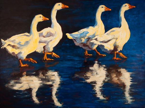 Tread Lightly, oil, 36 x 48.