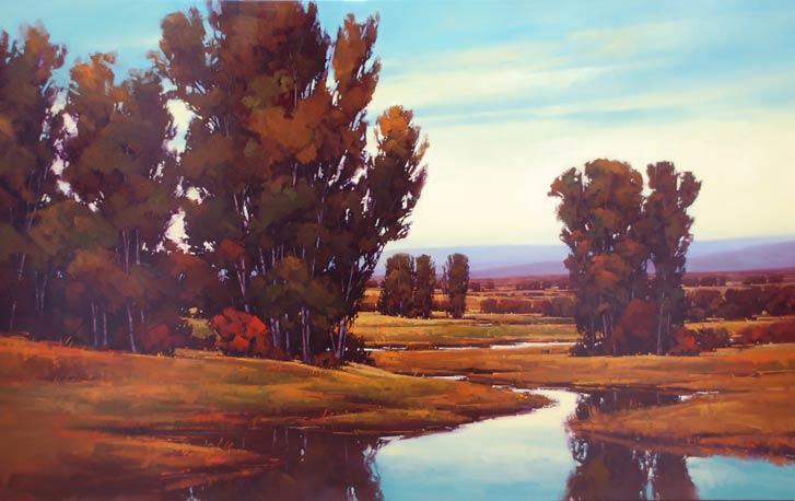 Gregory Stocks | City Creek, oil, 60 x 96.
