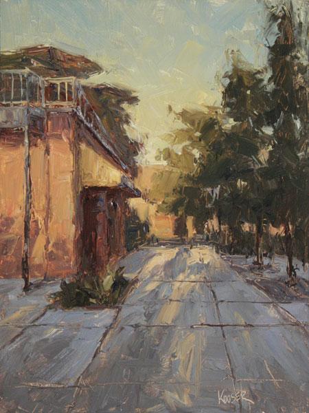 Cityscape Study, oil, 19 x 12.