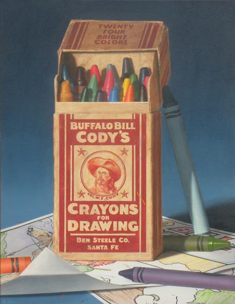 Ben Steele, Cody's Crayons, oil, 44 x 34.