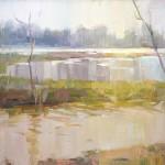 John P. Lasater IV, Colorful Flood, oil, 14 x 18.