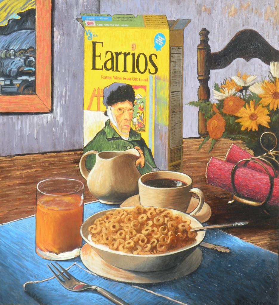 Complete Breakfast, oil, 55 x 50.