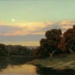 Kevin Courter, Moonrise, oil, 18 x 24.