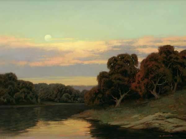Kevin Courter, Moonrise, oil, 18 x 24.