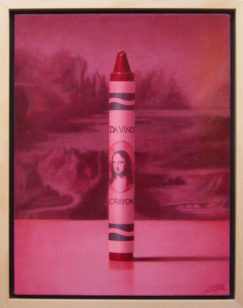 Da Vinci Crayon, oil, 16 x 12.