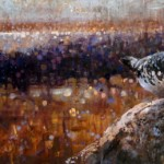Ewoud de Groot, Ptarmigan, oil, 16 x 36.
