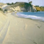 Robert Lemler | Deserted Beach, oil, 18 x 18.