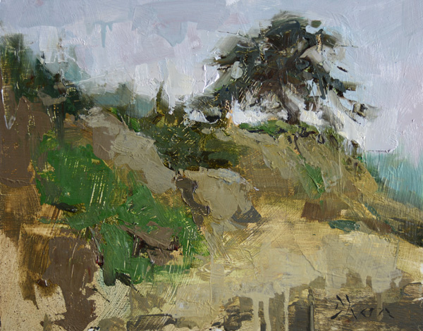 Jacob Dhein, Fort Funston Cliff, oil, 11 x 14.