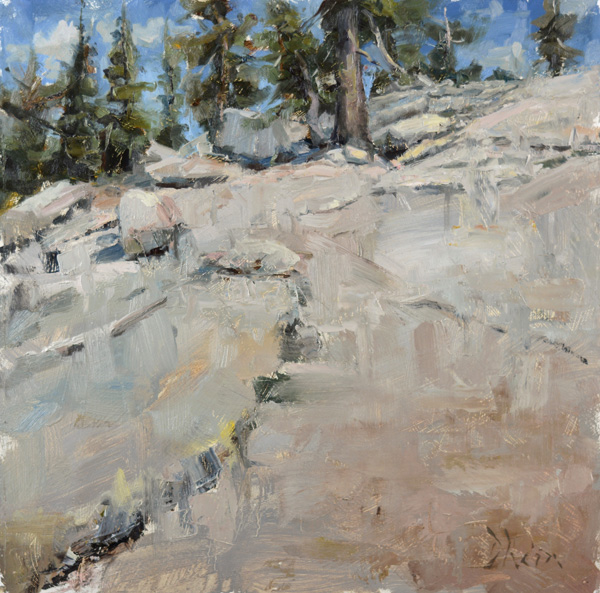 Jacob Dhein, Rock Structure at Yosemite, oil, 16 x 16.
