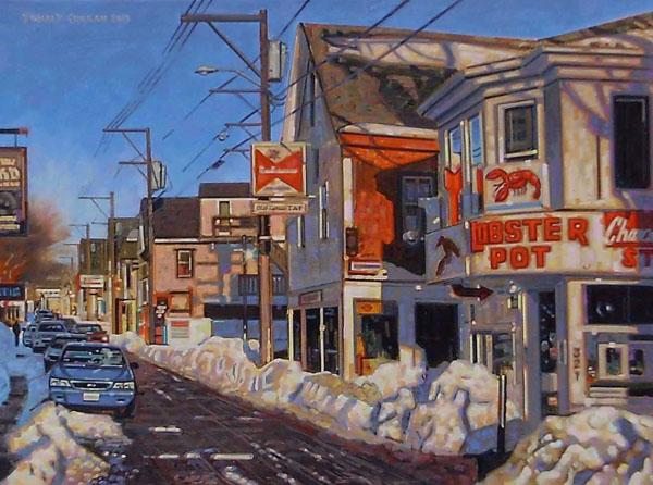 Donald Curran, Frozen Lobster, oil, 18 x 24.