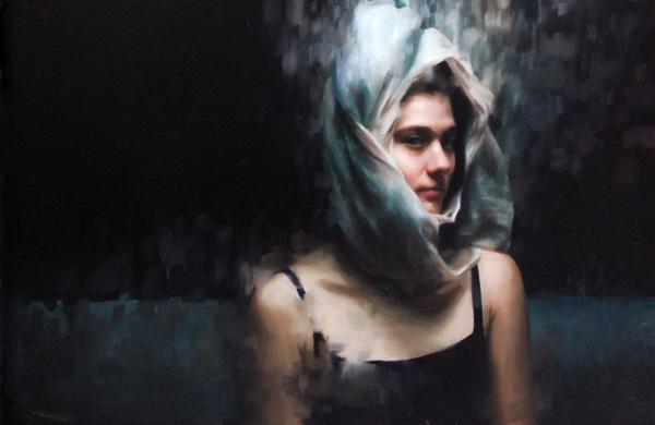 Mia Bergeron, Elasticity, oil, 16 x 24.