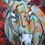 Amy Ringholz, Emmy Lou, ink/oil, 48 x 36.