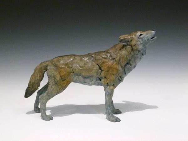 Jim Eppler, Wolf I, bronze, 9 x 13 x 3.