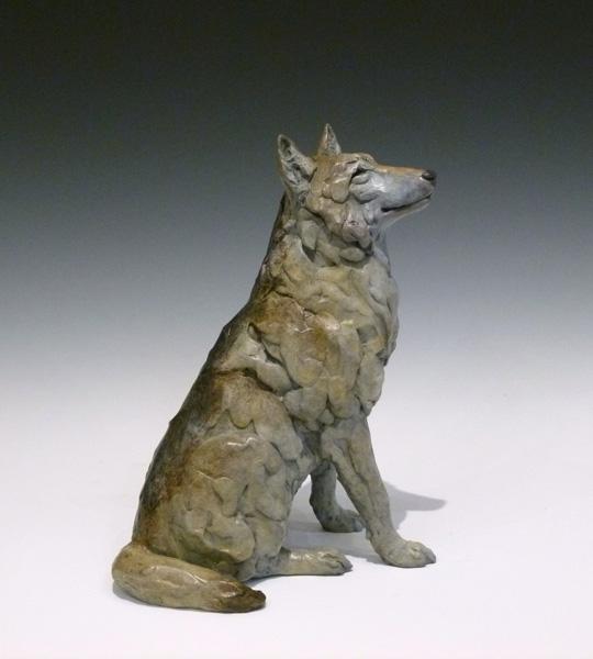 Jim Eppler, Wolf III, bronze, 9 x 7 x 5.