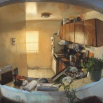 Daniel Robbins, Evolution of a Kitchen, oil, 36 x 45.