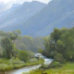 Dave Santillanes, The Florida River Valley, oil plein-air painting