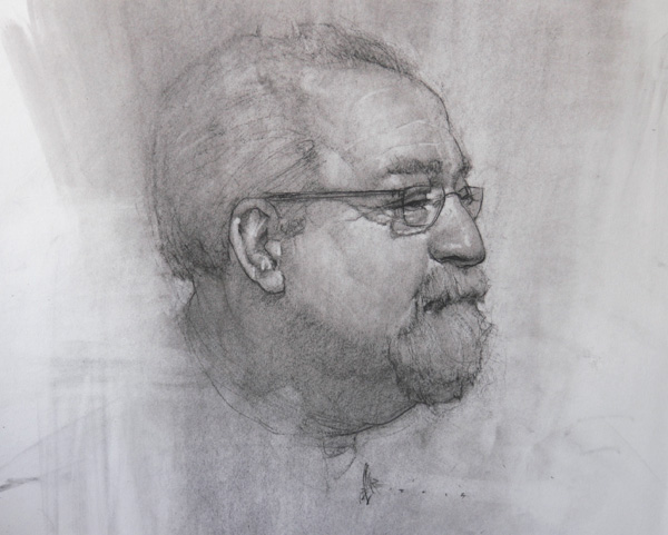 Josh Clare, Fred, charcoal, 16 x 20.