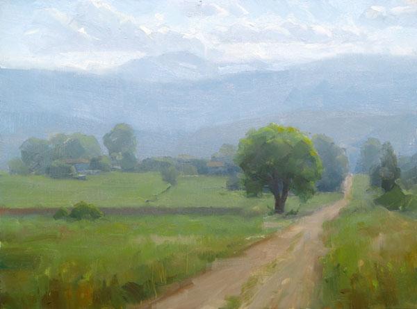 Dave Santillanes, Front Range Afternoon, oil, 9 x 12.