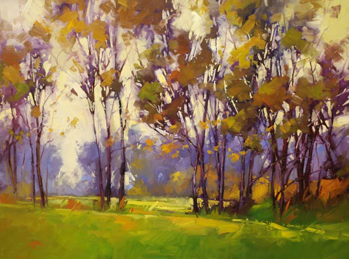 Gregory Stocks | Full Light of Day, oil, 36 x 48.